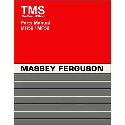 Massey Harris Massey Ferguson Mh50 Mf50 Parts Manual
