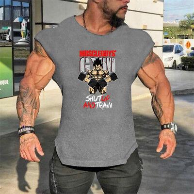 New Sport Printing Bodybuilding Fitness Gym Clothing Stringer Tank Tops for Men