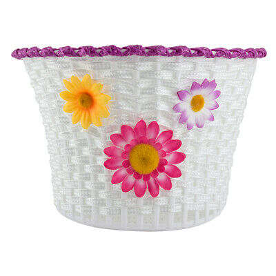 BICYCLE BASKET Front Plastic Weave Small 10x6.5x6.25 w//STRAPS
