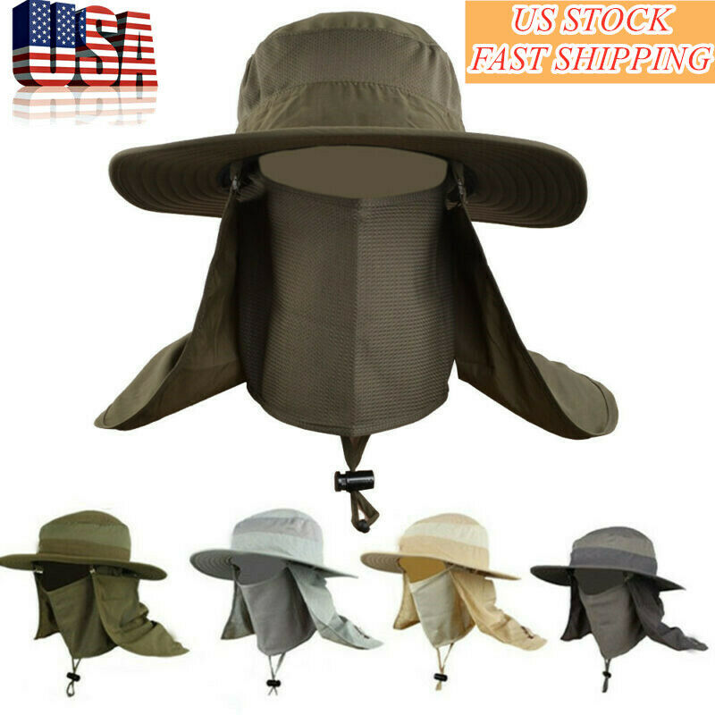 Hot Hiking Fishing Hat Outdoor Sport Sun-Protection Neck Fac