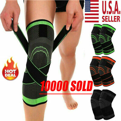 Knee Compression Sleeve - Knee Sleeve Compression Brace Patella Support Stabilizer Sports Gym Joint Pain