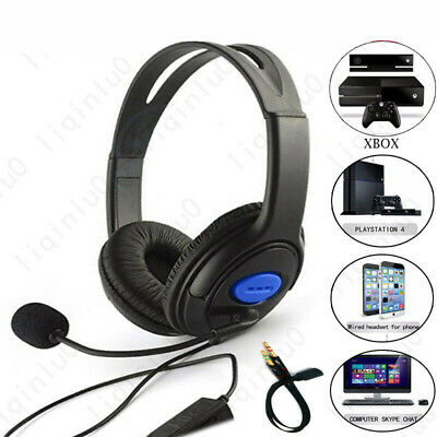 NEW Wired Gaming Headphones Over Ear Headset Earphone With Mic Volume Control US