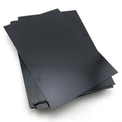 Used, 1mm Thickness ABS Styrene Plastic Flat Sheet Plate 200mmx300mm Black Industry for sale  Shipping to Canada