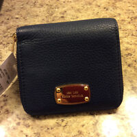 Brand new with tags, Michael kors navy blue wallet.