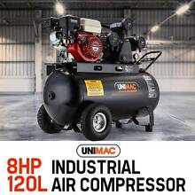 NEW UNIMAC Industrial Air Compressor 120L Receiver Petrol Driven Dandenong South Greater Dandenong Preview