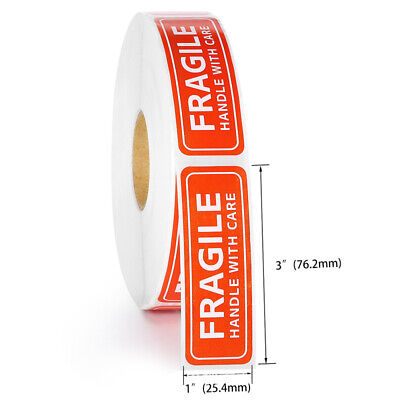 100200pcs Fragile Label Stickers Handle With Care Thank You Warning Signs Tags