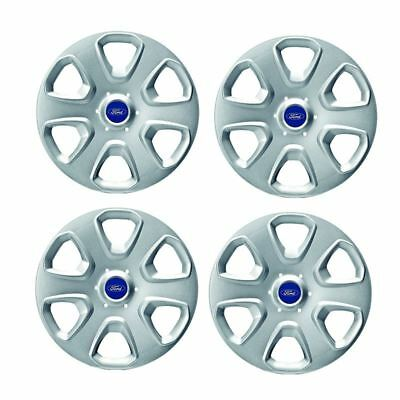 "Genuine Ford KA MK2 14"" Wheel Trim Set of 4 Silver Style C 1748782"