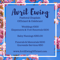 Wedding Officiant & Celebrant in Southern Ontario