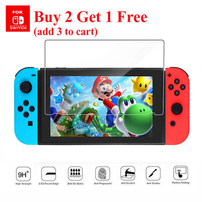 2X 9H Real Premium Tempered Glass Screen Protector Film For Nintendo Switch 2017