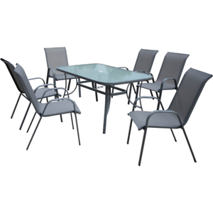 BRAND NEW Bunnings Outdoor Glass Table (Seats 6 Chairs ...