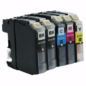 Set 5 cartouches encre Brother LC101/103 ink toner cartdriges