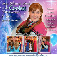 PRINCESS ANNA PARTY, BARRIE ONTARIO BIRTHDAY EVENT ENTERTAINMENT