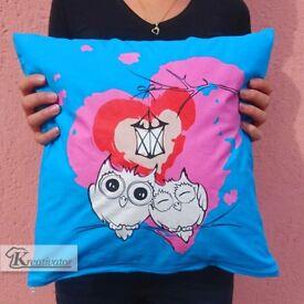 Custom Colourful Cotton Cushion