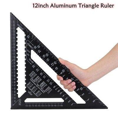 "Speed Square/Roofing/Rafter Angle Triangle Guide Quick Measure 12"" Aluminium"