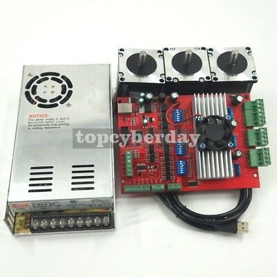 Mach3 Usb 3axis Cnc Kit Tb6560 Stepper Motor Driver Boardnema23 Stepper Motor57