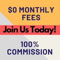 HIRING REAL ESTATE AGENTS, $0 MONTHLY FEES AND 100% COMMISSION.