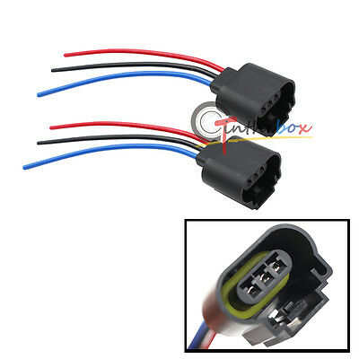 H13 9008 3-Wire Socket Female Adapter Wiring Harness Pigtail Plug for -