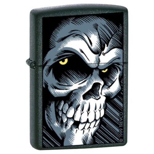 Zippo Lighter - Big Skull Black Matte - ZCI003309