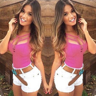 Купить Sexy Women Summer Vest Top Sleeveless Blouse Casual Tank Tops T Shirt NJUS