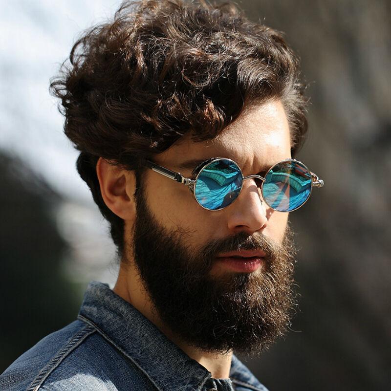 Brand Sunglasses Sun Polarized Design Glasses Round About Uv400 Vintage Steampunk Mens Details mny0PvwNO8