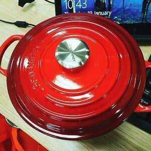 Le Creuset Red cast iron pot 20cm Enfield Burwood Area Preview