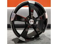 "19"" New Black Edition Style alloy wheels for Golf MK5, MK6, MK7, Jetta, Seat Leon MK2, MK3"