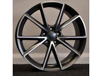 "19"" RS4-C Style Alloy Wheels. Seat Leon, Audi A3. VW Passat, Jetta, Golf MK5, MK6, MK7,Caddy"