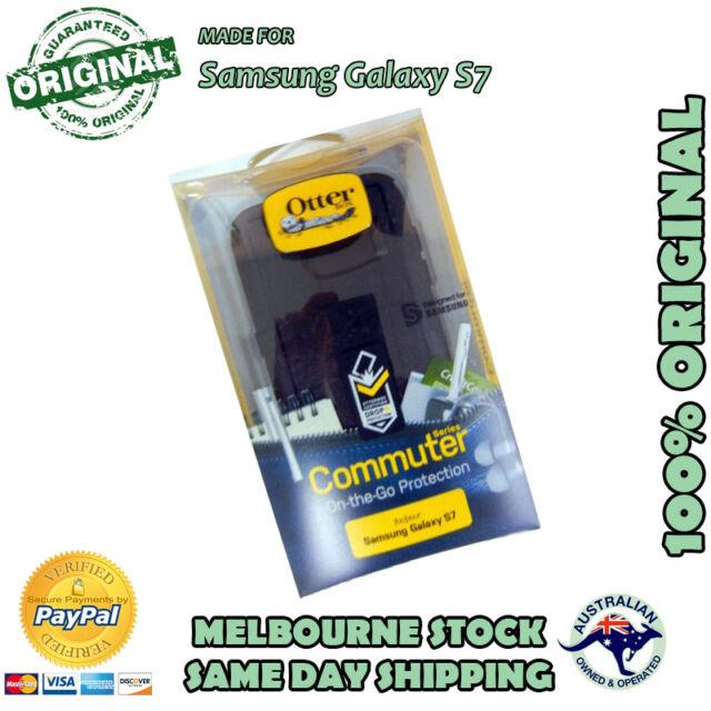 Samsung Galaxy S7 Black Otterbox Otter Commuter Duty Tough Case Cover Bump Shock