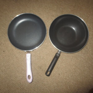 2 FRYING PANS-LIKE NEW!