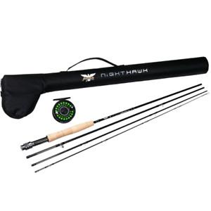 Brand new Fenwick fly rod and reel & New 2pc Musky Rod