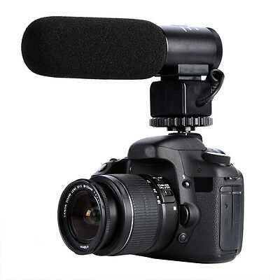 DSLR Camera Microphone Video Audio Shotgun Mic for Canon Nikon Gopro