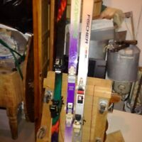 3 sets of skis of boots size 9