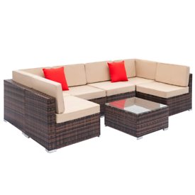 Rattan 5 Seater Sofa Set - Brand New - Table included