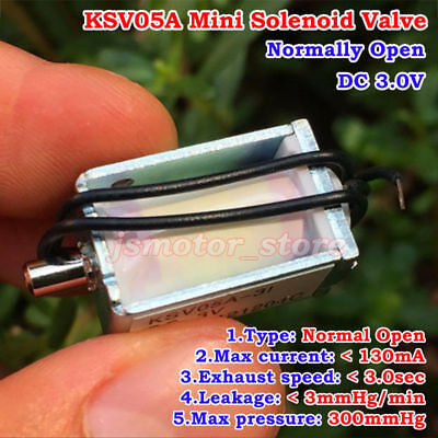 Koge Ksv05a Dc3v Mini Electric Dc Solenoid Valve Normally Open For Gas Air Valve