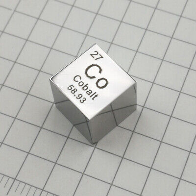 Cobalt Co Mirrored Cube 10*10*10MM for Element Collection Display Purity 99.9%