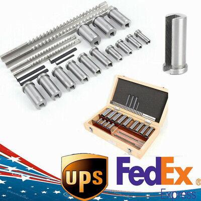 22pcs Keyway Broach Kit Metric Size Set Hss Cnc Metalworking Tool