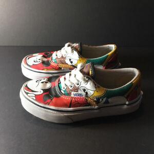Souliers Vans x Disney Era Mickey Mouse Enfant Taille 11.5 Shoes