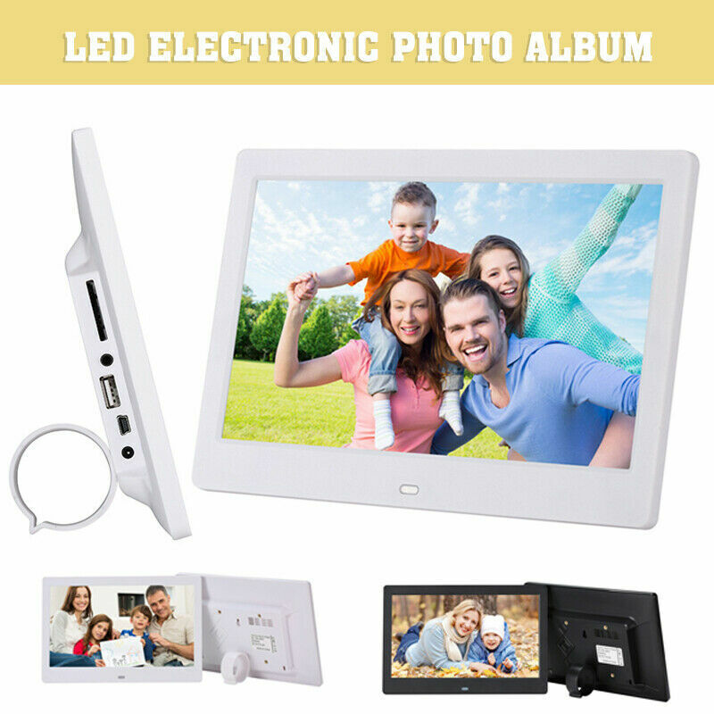 """10"""" Digital Photo Frame Electronic Picture Video Player Movie Album HD Dispaly"""