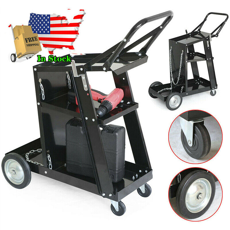 Professional Welding Cart Plasma Cutting Machine without Drawer Black Color USA