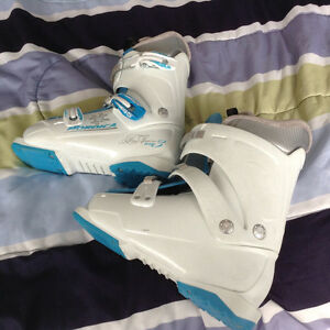 Downhill skis and boots for sale - used