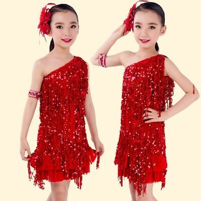 Girls 1920s Charleston Flapper Girl Red Fancy Dress Halloween Costume