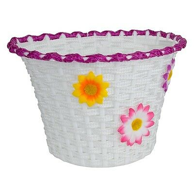 FRONT BICYCLE BIKE BASKET CLASSIC FLOWER LARGE 90067