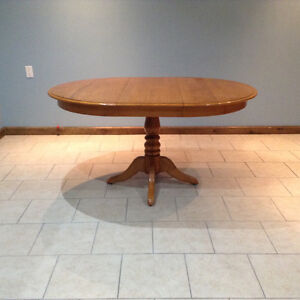 Oval Maple Table
