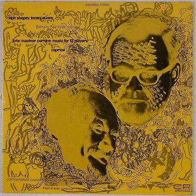 Shapey  Perkins  Music 13 Players  Incantations Cri Avant Garde Lp