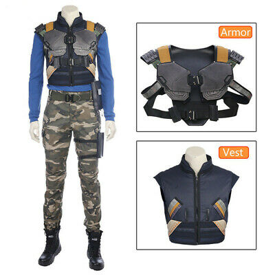 Marvel Black Panther Erik Killmonger Cosplay Vest and Armor Costume Accessories (Black Panther Suit)