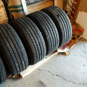 Used All season Michelin Harmony tires with rims