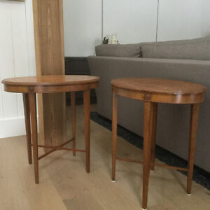 Antique Solid Cherry end tables.