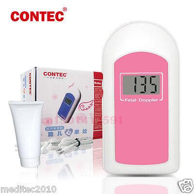Contec Fetal Heart Rate Doppler Baby Sound B Ultrasonic Doppler Lcd Free Gel