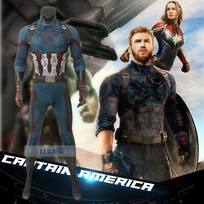 Avengers 3 Steven Rogers Captain America Cosplay Kostüm Costume bodysuit - Captain America Cosplay Kostüm