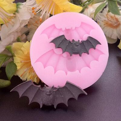 Halloween Bat Silicone Chocolate Mold Cupcake Cake Fondant Ice Decorating Tool (Halloween Cupcake Icing Decorations)